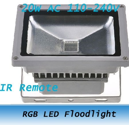 20W waterproof RGB LED Floodlight outdoor high power Wall Wash Lamp +Remote Controller 110-240v<br><br>Aliexpress