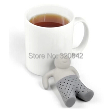 Fashion food grade silicone Mr Tea Infuser Teapot cute Tea Strainer Coffee Tea Sets Soft fred