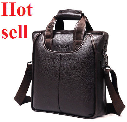 New 2014 fashion leather men shoulder bags, Quality Guaranteed famous brand authentic men bags, business handbag(China (Mainland))