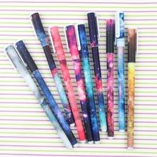 Creative Star Night Gel Ink pen 2016 HOT boligrafos kawaii gel pens boligrafos kawaii school supplies wholesale J006