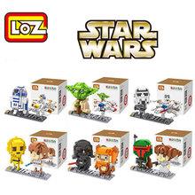 Star Wars R2-D2/Yoda/Imperial/Vinda Commando LOZ Bricks Diamond Building Blocks Intellectual Development Minifigure Toy For Gift