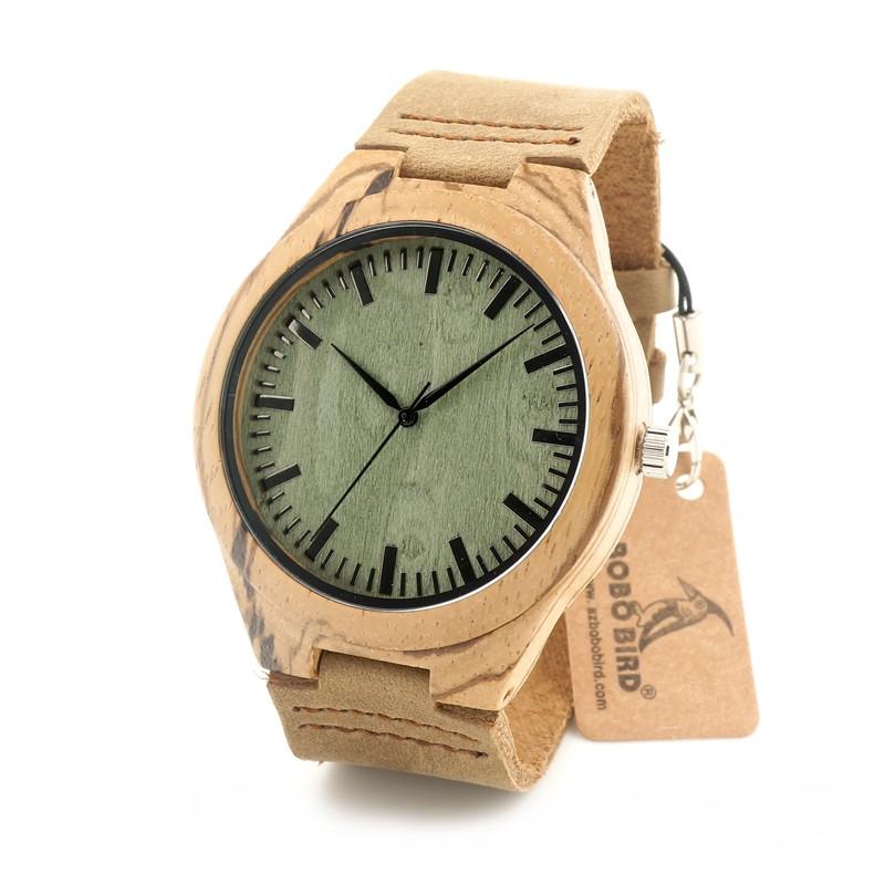 БОБО ПТИЦА Деревянный Часы С Кожаный Браслет и Японский Кварцевый движение Бизнес Кварцевые Часы Для Мужчин И Женщин С Подарок коробка