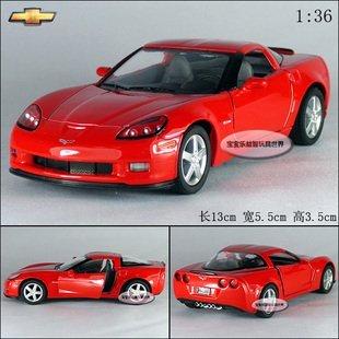 New 1:36 Chevrolet 2007 CORVETTE Z06 Alloy Diecast Model Car Red B387
