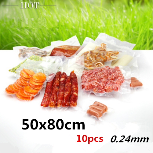 50x80cm 10pcs New material plastic pack bags/ Thicken vacuum plastic packaging Health Products,Beauty capsules,nuts,tea,pouches(China (Mainland))
