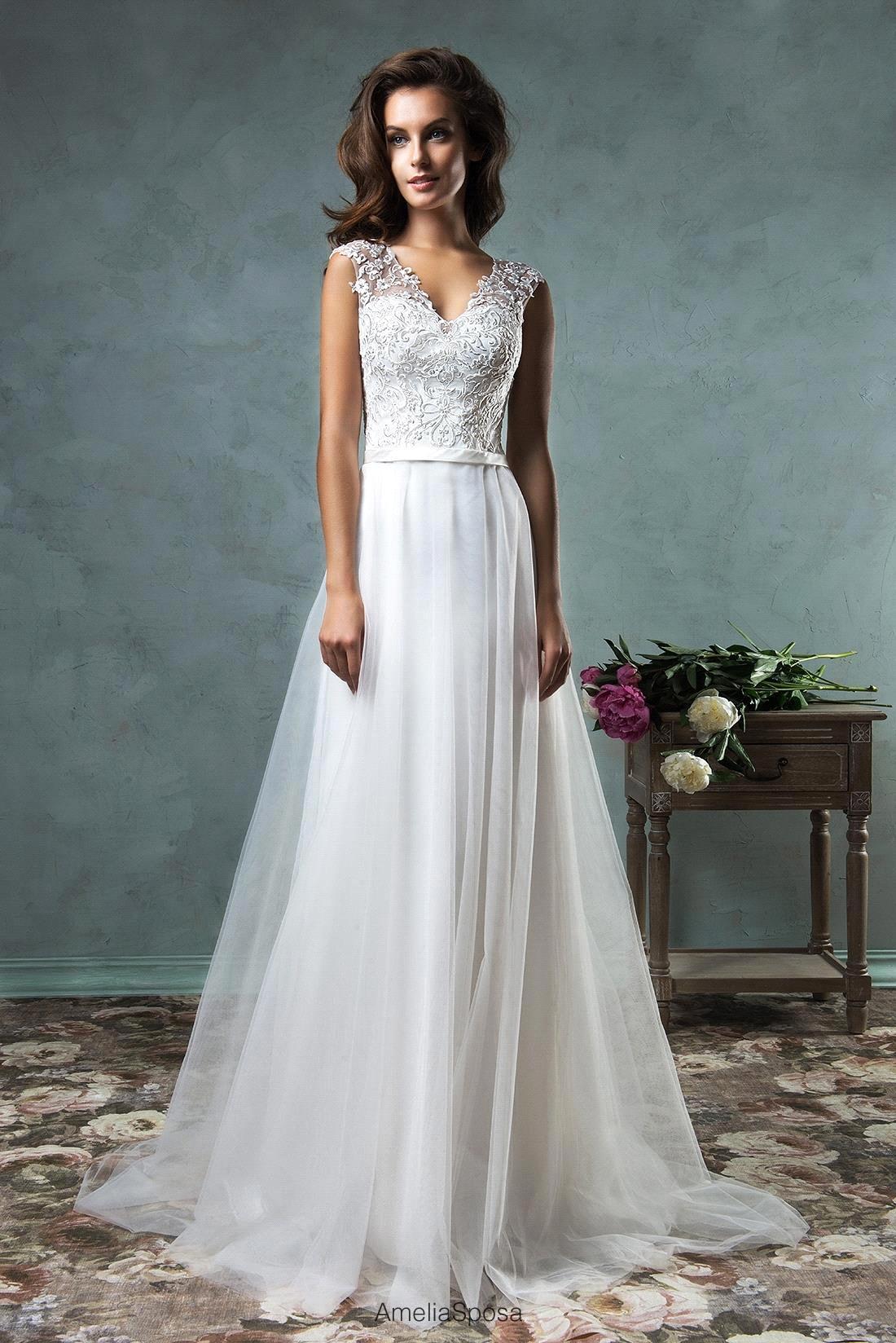 robe de mariage Elegant vestido de noiva Lace Sheer Back