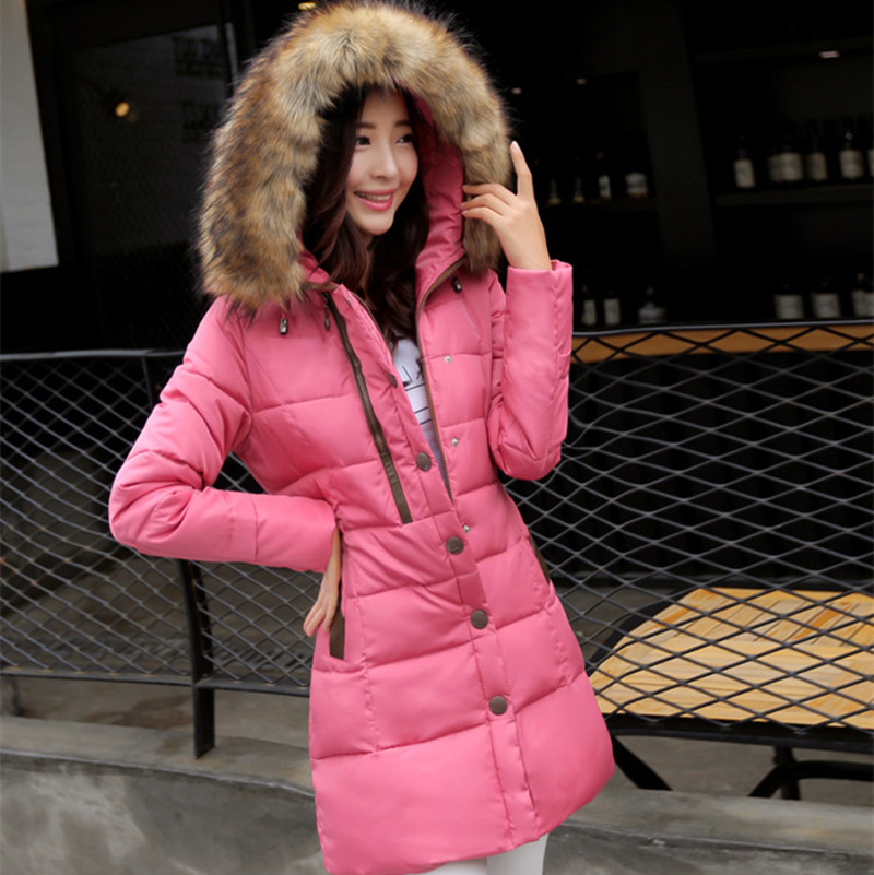 2016 winter duck coats women medium-long big size fur hooded jacket ladies casual parkas thickening Female Warm Clothes