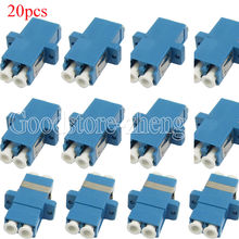 Buy 20 pcs LC LC Duplex Flange Fiber Optic Connector Adapter Coupler Wholesales for $19.99 in AliExpress store