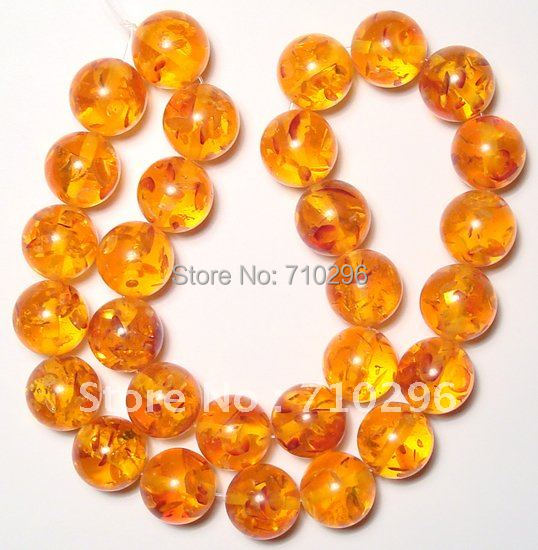 Yellow Amber Jewelry Beads 14 mm Amber Resin Bracelets DIY Fashion Jewelry Findings.10 strings/lot.Free shipping