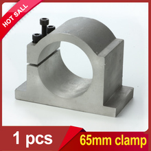spindle clamp 65 spindle motor bracket 65mm clamp for 0.8KW 1.5KW cnc spindle motor free shipping A007A(China (Mainland))