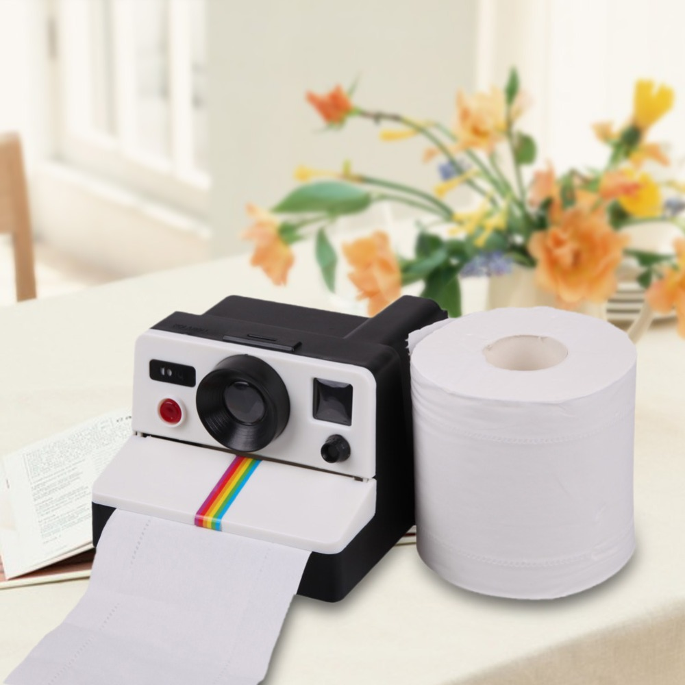 80s Retro Polaroid Style Toilet Paper Holder/Toilet Roll Box Tissue Dispenser