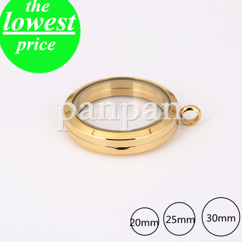 Gold magnet Stainless steel 30mm round glass locket for floating charms<br><br>Aliexpress