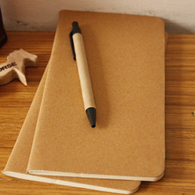 cowhide paper notebook blank notepad book vintage soft copybook daily memos Kraft cover journal notebooks free shipping 1426
