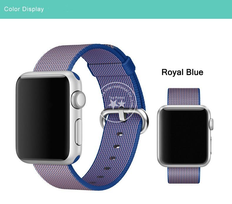 2016 Новинки 7 Цветов 1:1 Нейлон Ремешок Для Apple Watch 42 мм 38 мм С Оригинальной Нержавеющей Стали Адаптеры