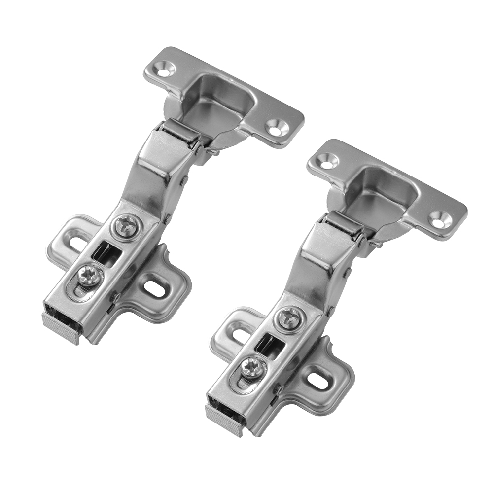 2x 110-degree angle Soft Opening Cabinet Door Hinges Hydraulic Clip-On No Overlay for Cupboard Face Frame Applications HS471+(China (Mainland))