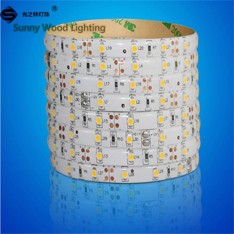 5m/roll Free shipping LED strip SMD 3528 60pcs/m LED softstrip 12V DC  Warm White 3000K color High Brightness IP65 Epistar LED<br><br>Aliexpress