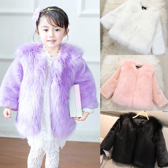 Childrens Faux Fur Coats Jackets