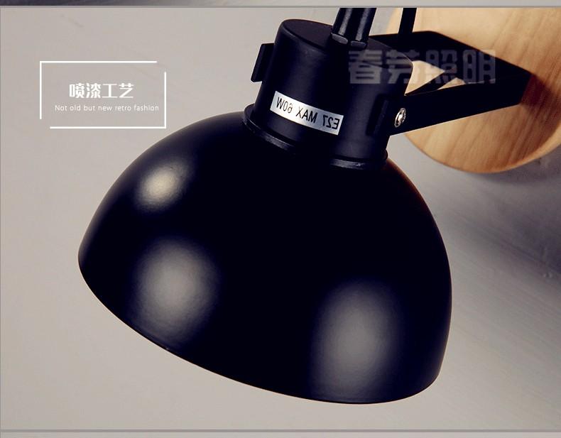 Купить Стиле ЛОФТ Настенный Светильник регулируемой Головкой Ночной Чтение Свет Дерево + Утюг E27 Бра Лестница Света Настенный Светильник WWL009