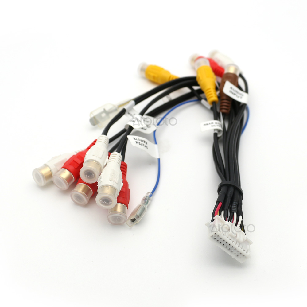 car radio cable picture more detailed picture about 24 pin car stereo radio rca output wire