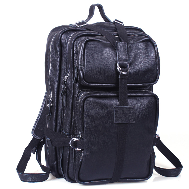 TIDING Large capacity Unisex Genuine Leather Travel Luggage Hiking laptop Backpacks Duffle Gym Bags 3034(China (Mainland))