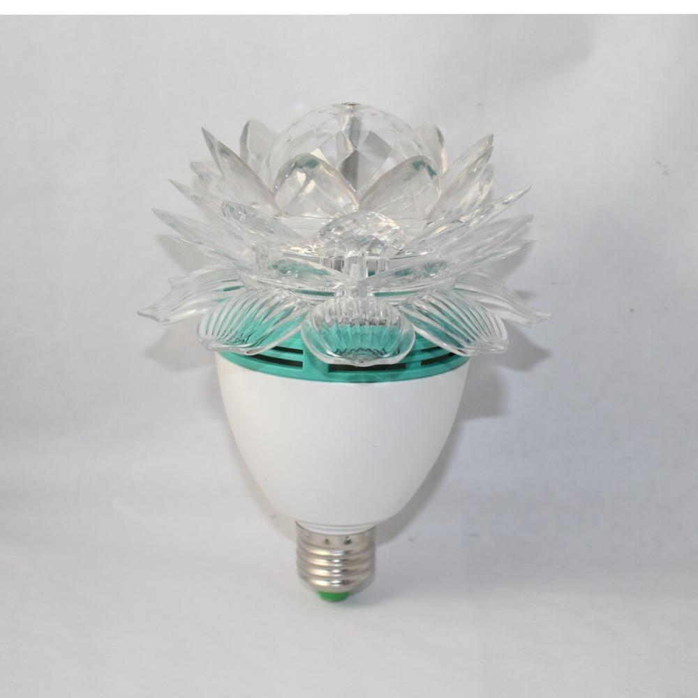 Rotate Lotus Lotos Flower Crystal E27 RGB LED KTV Disco Christmas Party Holiday DJ Lamp E27 Rotating Light Lights E27 LED Lamps<br><br>Aliexpress