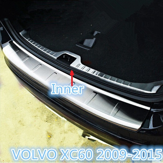 2015 Volvo Xc60 Review: Stainless Steel Inner Rear Bumper Protector Sill Trunk
