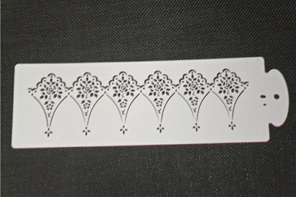 Scraper Decorator Wedding White Cake Stencils & Sides Fondant Cake decorating set Variety Kit for