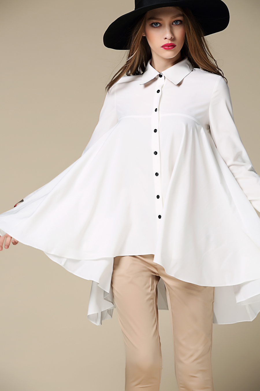 Женские блузки и Рубашки BUBOREEY 2015 & Falbala 3 BR-6035 женские блузки и рубашки 2014