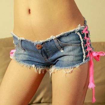 Сексуальный деним шорты женщины низкая талия короткая женщины девочка джинсы