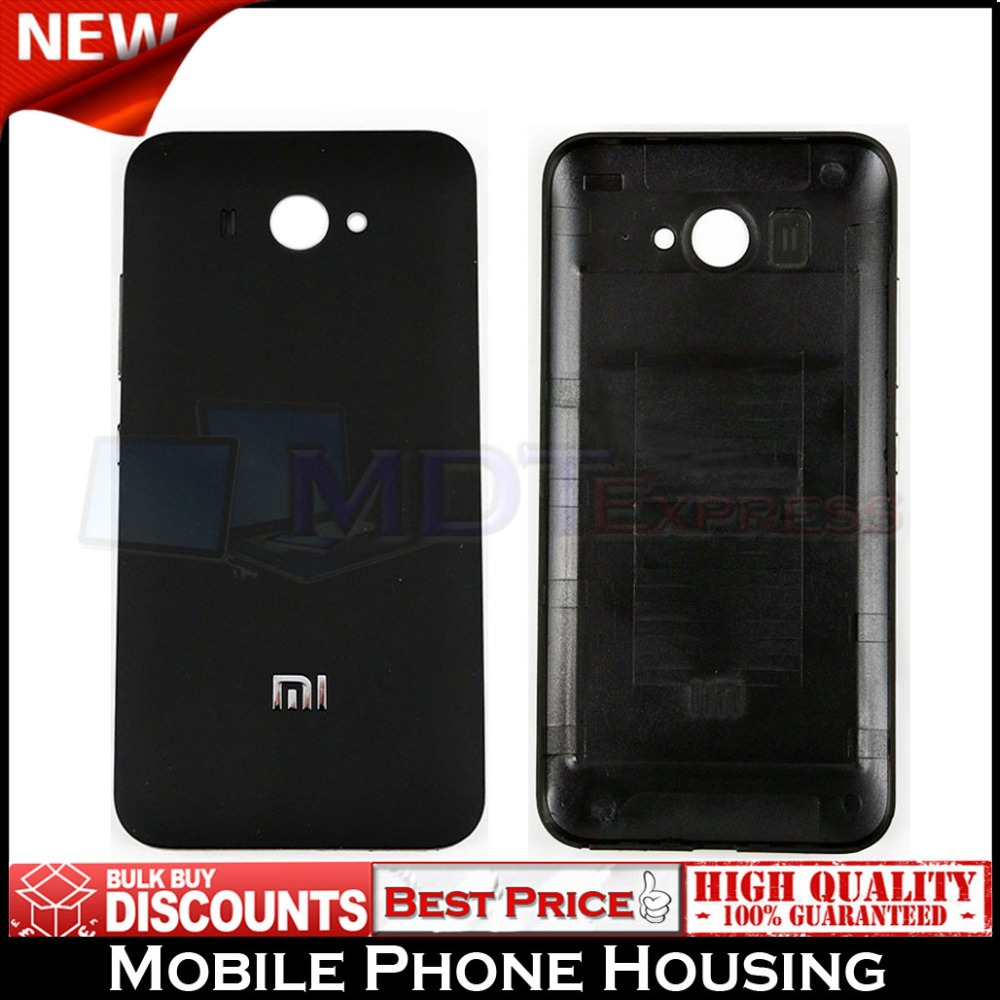 Brand New! Black Frosted Battery Door Back Rear Cover Housing Mobile Phone Case with side buttons for Xiaomi 2 MI2 M2S MI2S 2S(China (Mainland))