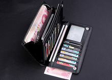 Hot Fashion Men Brand Design Leather Wallets Business Long Zipper Purse Honorable Clutch Coin Bag In