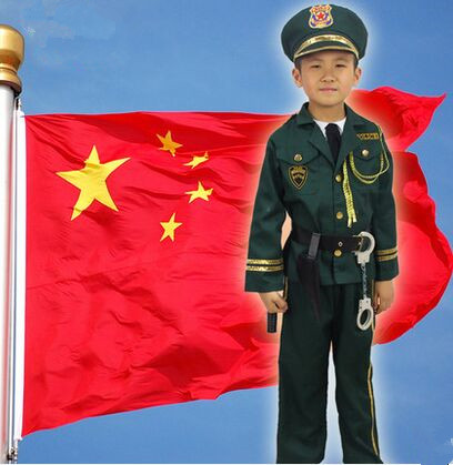 police costume for children police uniform chinese police uniform china police uniform apparel green military costumes(China (Mainland))
