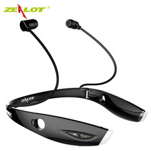 New Fashion Neckband Bluetooth Sport Stereo Headset Zealots H1 HiFi Headphones With Mic For iPhone/Samsung Handfree Call