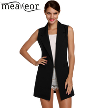 Meaneor Brand waistcoat Women Autumn Sleeveless Vest Jacket Long Thin Cardigan Joker Coat Outwear for Women Size M~XXL 3 Colors(China (Mainland))