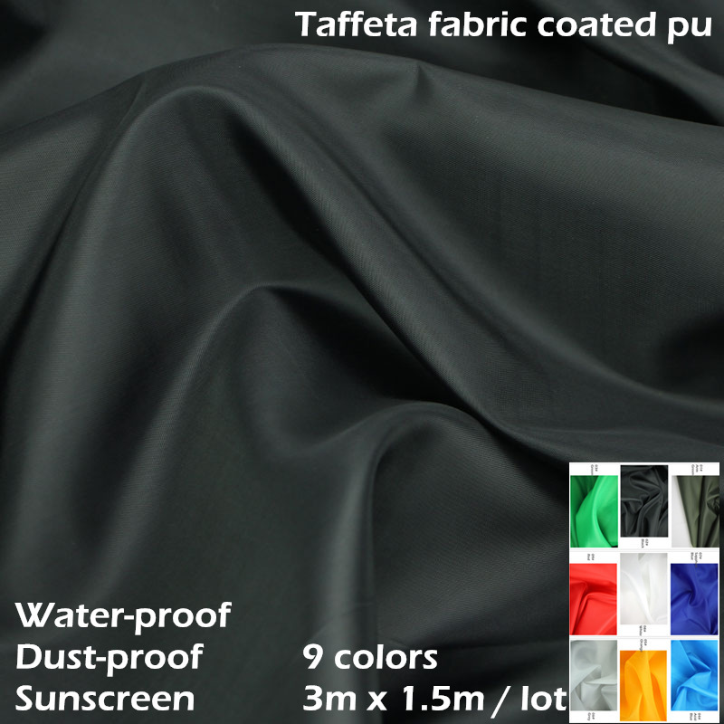 umbrella fabric 100% polyester taffeta coated pu textile water proof and dust-proof for weatherproof curtains car cover awning(China (Mainland))
