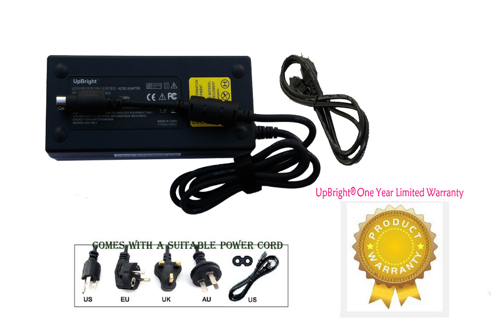 UpBright NEW 4-Pin AC / DC Adapter For Cisco SG300-10MP SRW2008MP-K9-NA Gigabit PoE Managed Switch Power Supply Cord Charger PSU(China (Mainland))