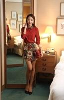 high quality 2014  spring basic shirt slim chiffon lace peter pan collar t women's blouse top