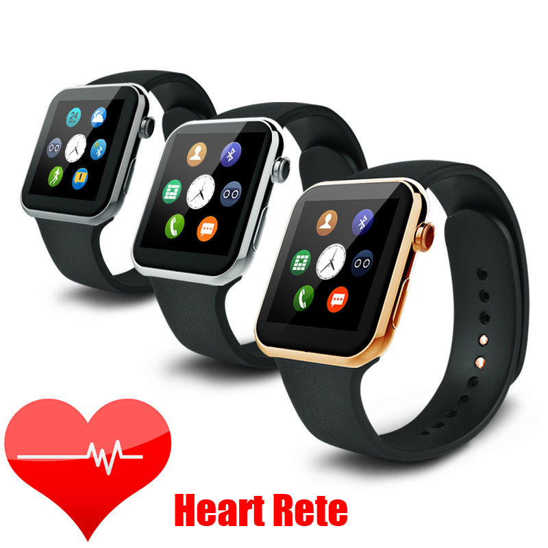 New A9 Smartwatch Bluetooth Smart Watch with Heart Rate for Apple IPhone & Samsung Android Phone Smartphone Watch