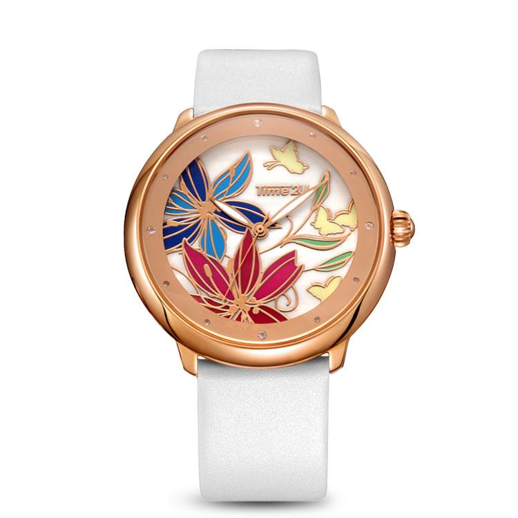 Time2U Lady Fashion Enamel Craft Business Women Quartz Watch Wristwatch(China (Mainland))