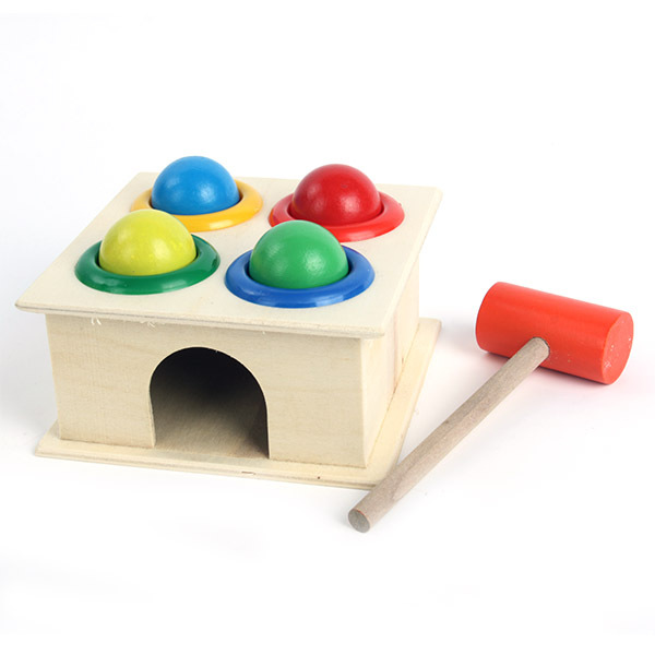 Гаджет  Children Kids Baby Colorful Toys Hammering Wooden Ball+ Hammer Box Intellectual Toy New Freeshipping None Игрушки и Хобби