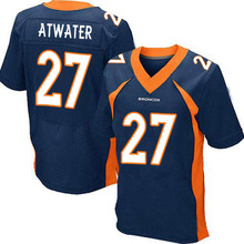 Men's #27 Steve Atwater Elite Navy Blue Alternate Football Jersey %100 Stitched(China (Mainland))