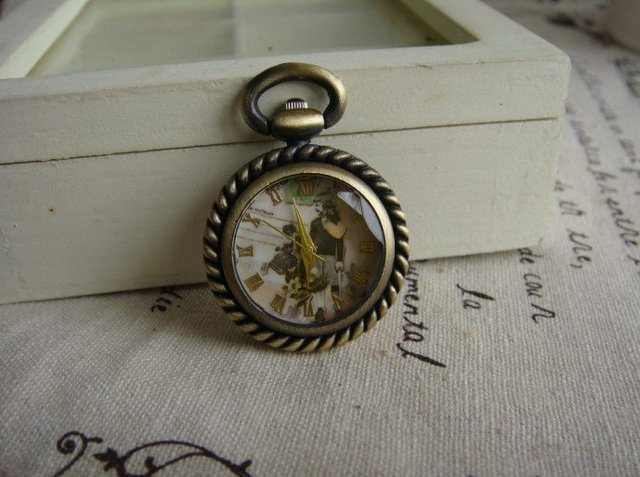2012 hotsale French style HB0248 D2.5cm antique pocket watch with chain DHL,fedex free shipping mix order