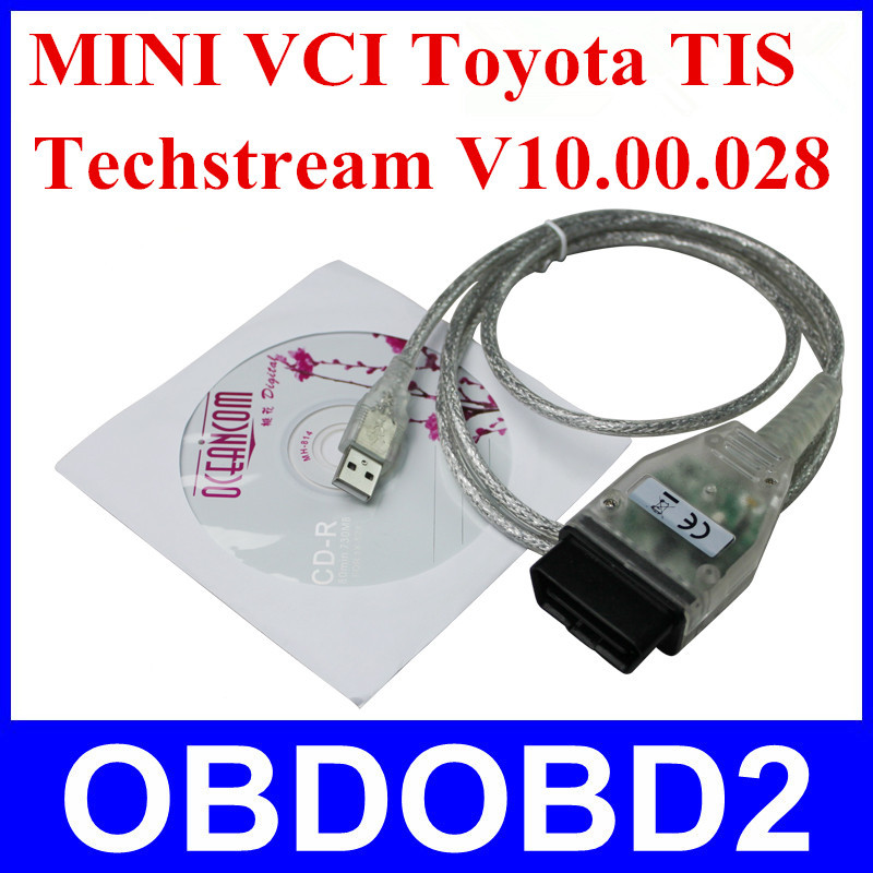Newly Professional Diagnostic Tool MINI VCI J2534 TSI TECHSTREAM V10.00.028 Connector Adapter Interface MINI-VCI CNP Free(China (Mainland))