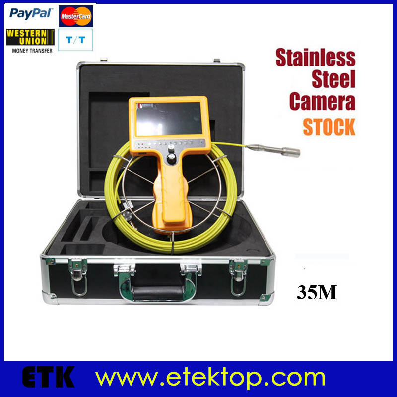 Professional Hand Held Sewer Pipe Snake Inspection Camera