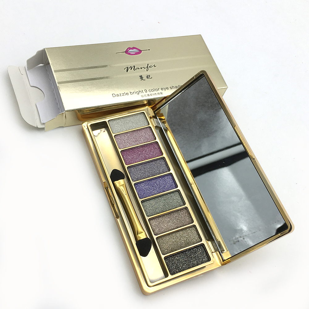 MASRO Diamond Bright Makeup Eyeshadow Naked Smoky Palette Make Up Set Eye Shadow Maquillage Professional Cosmetic With Brush(China (Mainland))