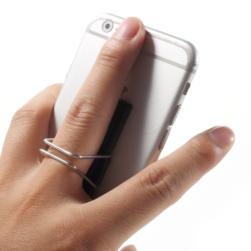 Finger Grip Holder With Stand For Mobile Phones And