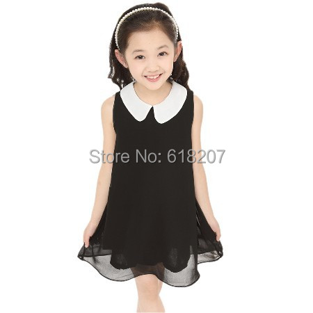 Гаджет  Free Shipping new 2014 Summer Girls Pleated Chiffon One-Piece Dress With Paillette Collar Children Colthes For Kids Baby 6colors None Детские товары