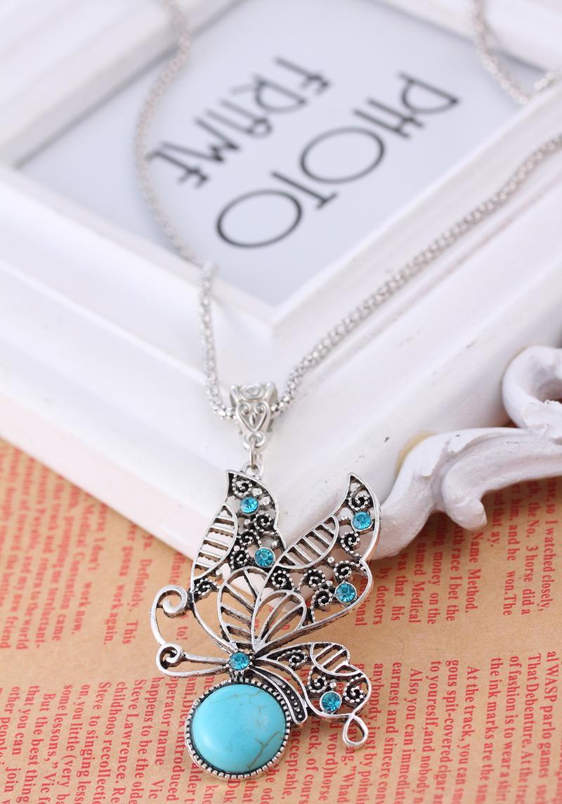 Fashion Jewelry Set Turquoise Bracelet Necklace Earings Suit Women TL9103 - ShangHai Aokeshen co., LTD store
