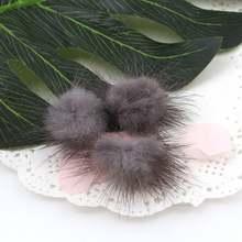 10 stks 3 cm Mink Fur Ball Pompons voor Ring Oorbel Schoenen Kleding Naaien Op Gebreide Sleutelhanger Sjaal DIY Sieraden bevindingen(China)