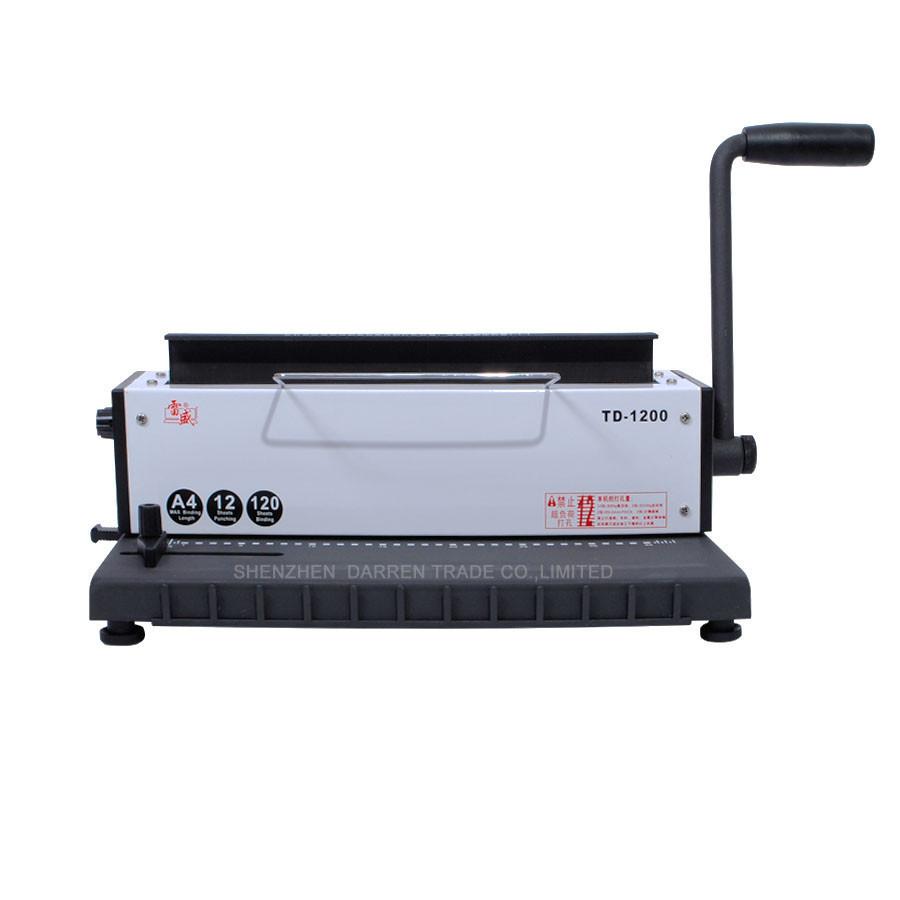 1pc Free by DHL New Wire binding machine two-thread a17th-century machine calendar punching machine binding machine high quality(China (Mainland))