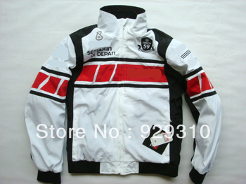 Free shipping 1PC Racing Oxford Nylon waterproof Jacket with 5pcs portector.Motocross clothing,Motor jacket Red